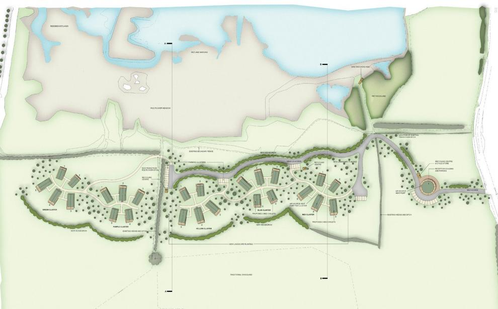 Site Layout plan of the proposals