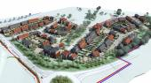 Proposed layout of the 200 new houses on site