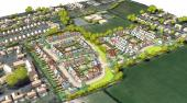 Proposed layout of the 131 new houses on site
