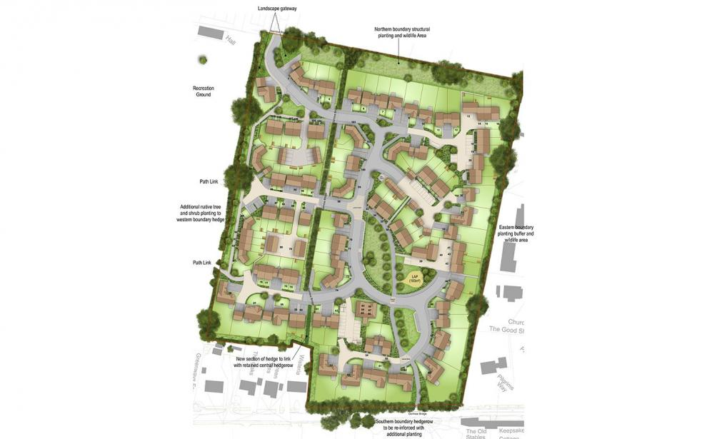 Proposed landscaping for the development