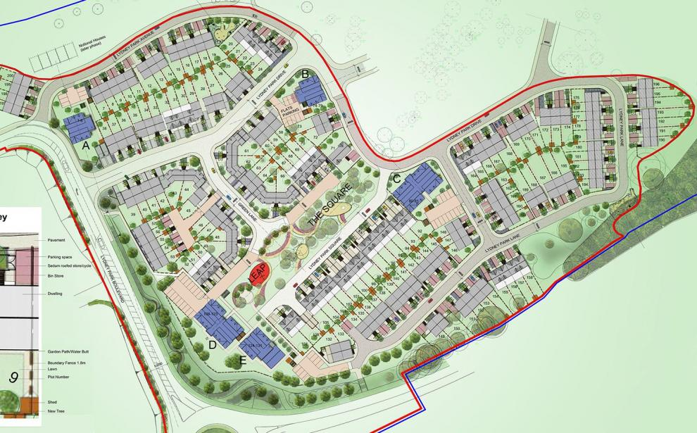 Consented layout for the 200 new houses