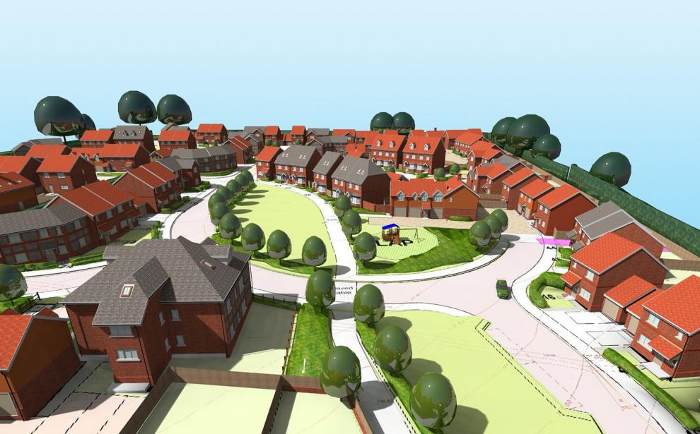 Views of the consented residential development
