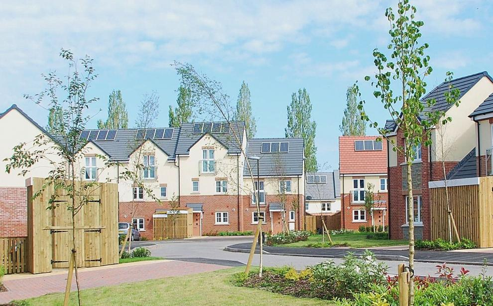 Views of the first phase of houses that have been completed on site.